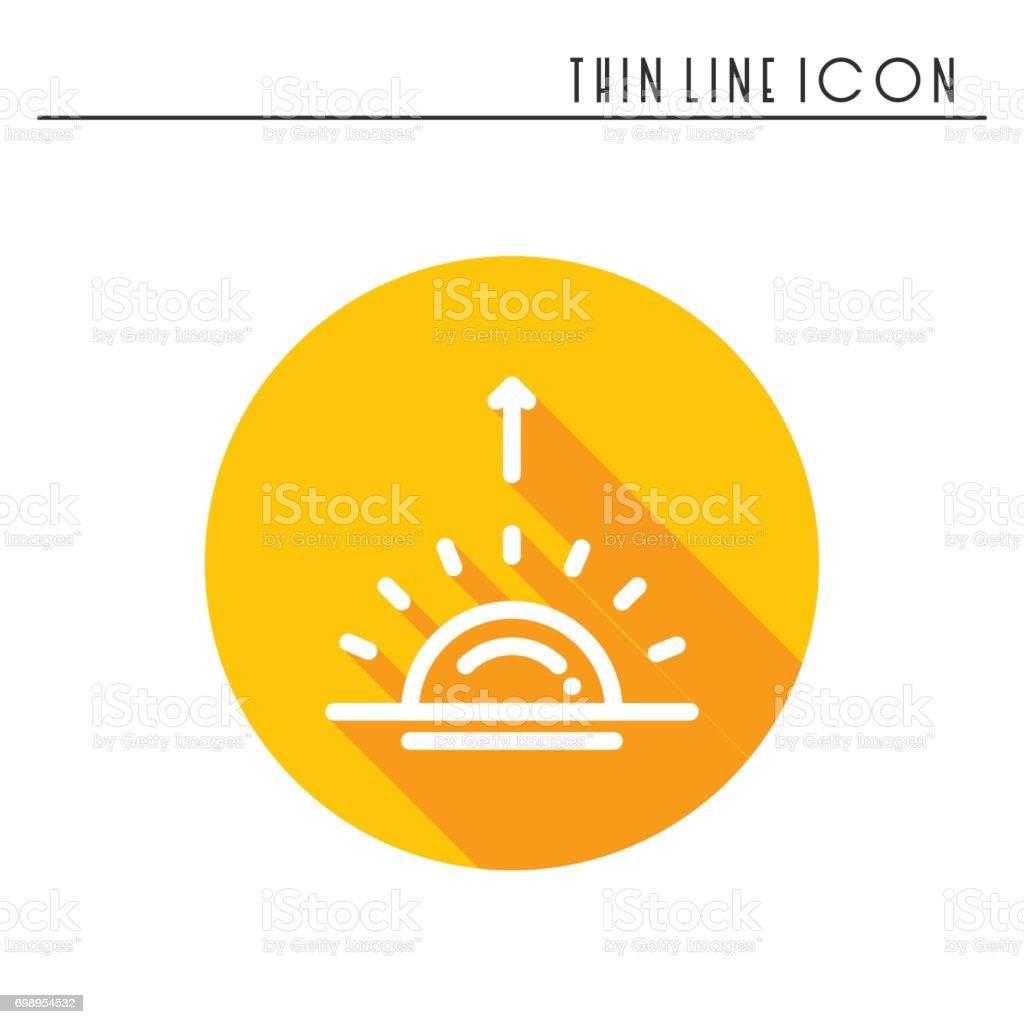 Ic ne simple ligne de soleil symboles m t o lever du soleil coucher de soleil pr vision des - Meteo lever et coucher du soleil ...