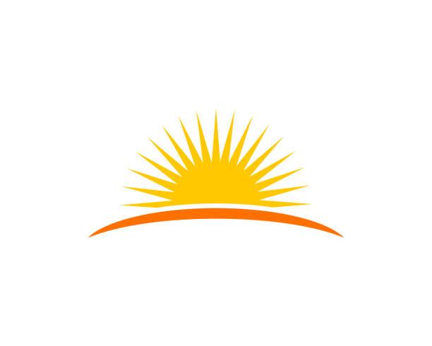 sun logo - horyzont stock illustrations
