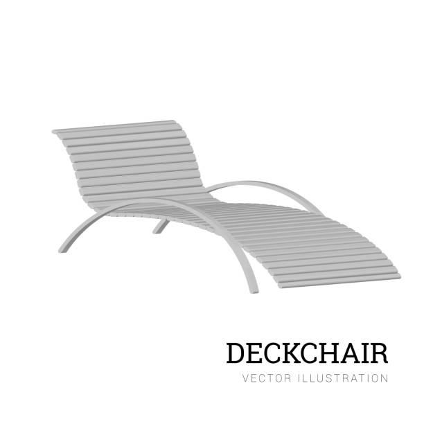 stockillustraties, clipart, cartoons en iconen met zon ligbed vector geïsoleerd op een witte achtergrond. houten stoel. vectorillustratie - board game outside