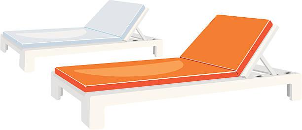 sonnenliegen - sonnenstuhl stock-grafiken, -clipart, -cartoons und -symbole