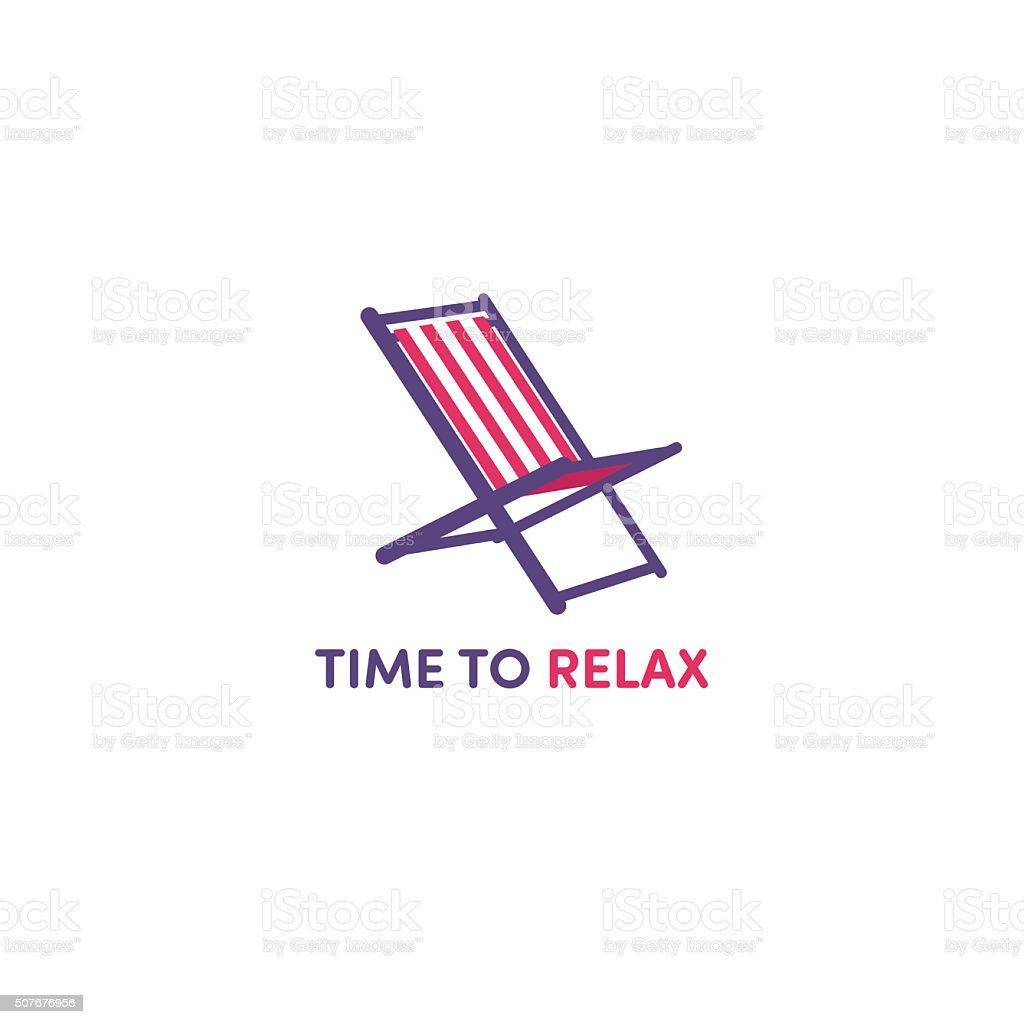Sun loungers vector art illustration