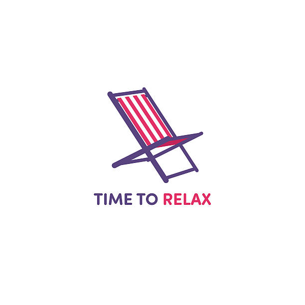 Sun loungers Sun loungers outdoor chair stock illustrations