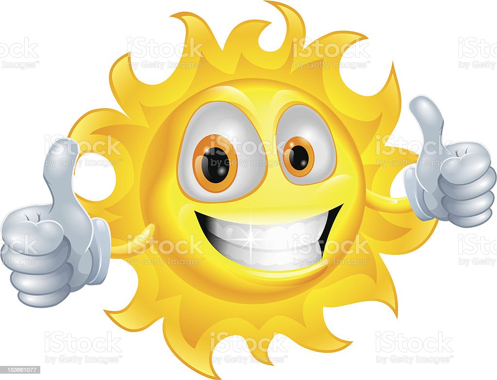 Sun man cartoon character royalty-free stock vector art