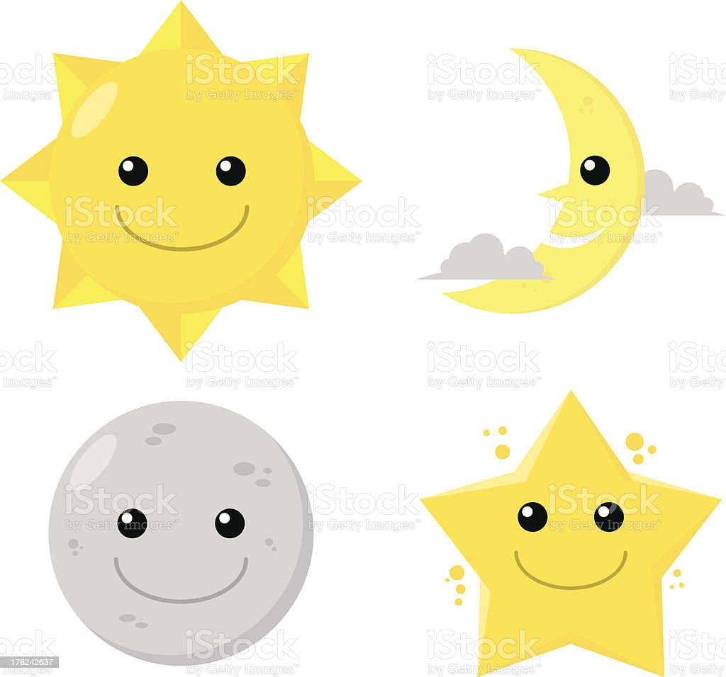royalty free sun and moon best friends baby cartoon characters clip rh istockphoto com sun and moon clipart images sun and moon clipart black and white