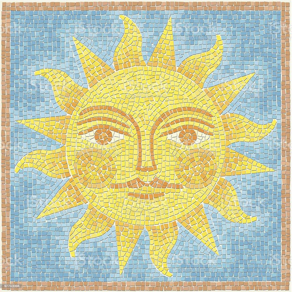 Sun Mosaic royalty-free stock vector art