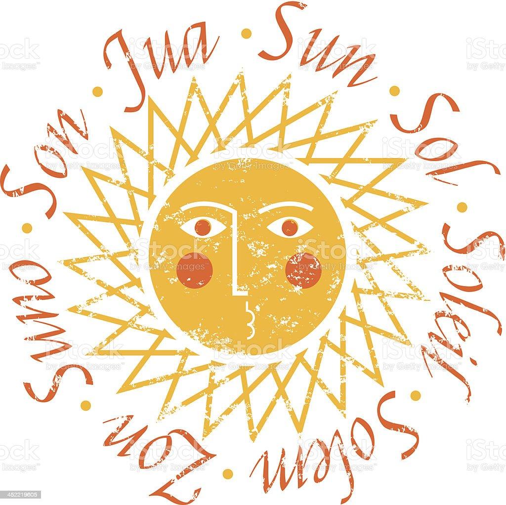 Sun names royalty-free stock vector art