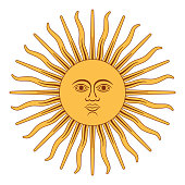 Sun of May, Sol de Mayo, Argentina