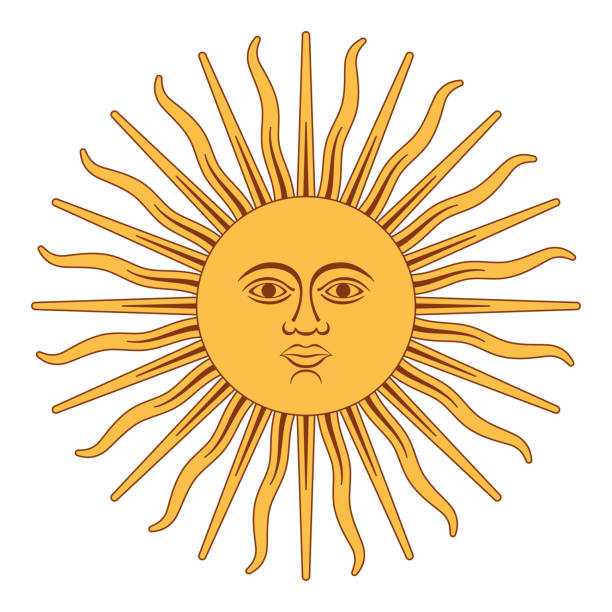 Sonne von Mai, Sol de Mayo, Argentinien – Vektorgrafik