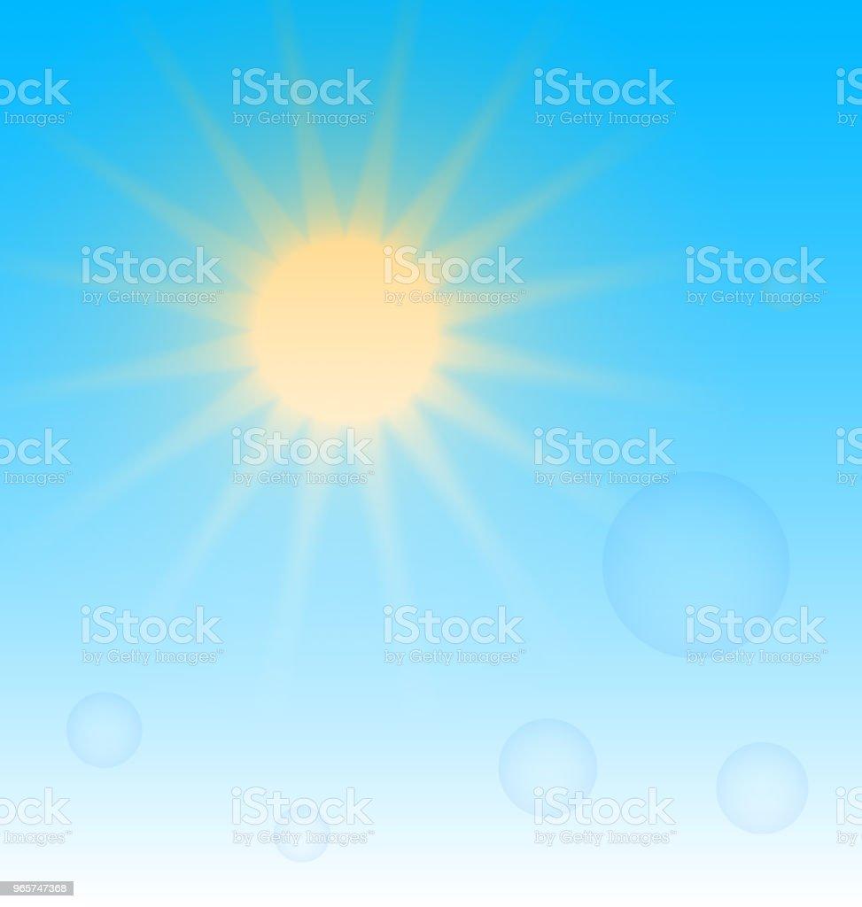 Zon op hemelsblauw achtergrond sjabloon - Royalty-free Abstract vectorkunst