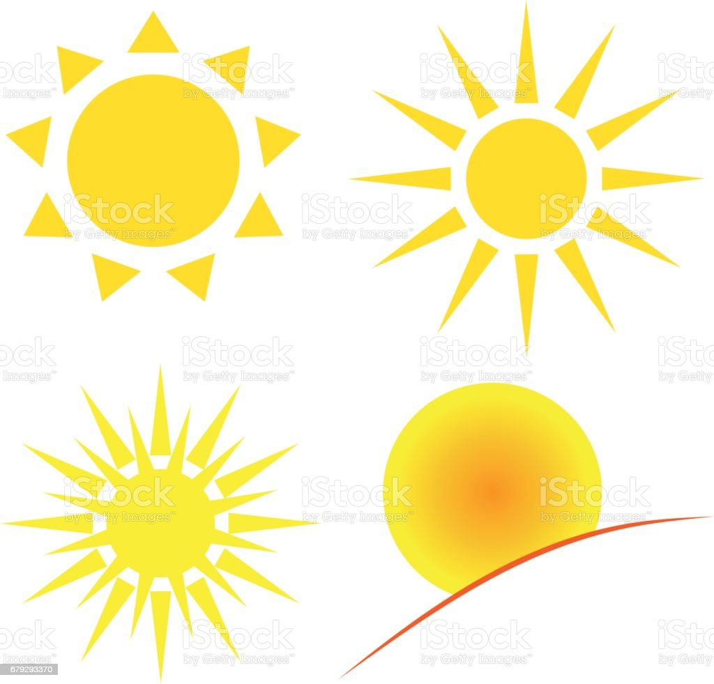 Sun on white background. Vector illustration. royalty-free sun on white background vector illustration stock vector art & more images of abstract