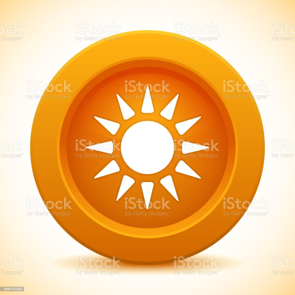 Sun orange button royalty-free sun orange button stock vector art & more images of backgrounds