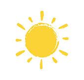 istock Sun Paint Brush Strokes on white background. Vector illustration. 1297706369