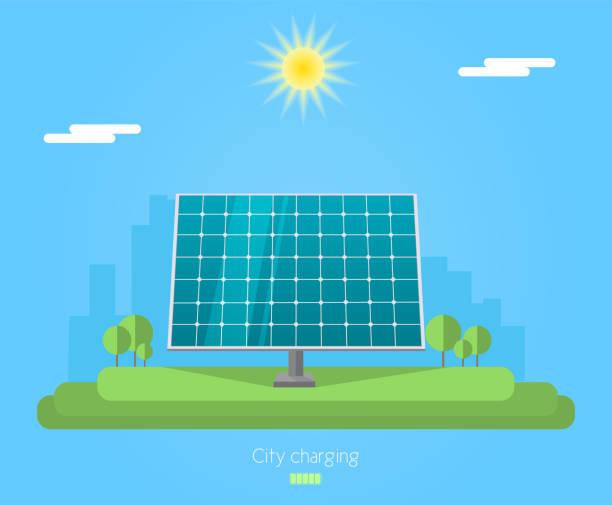 sun-panel - solaranlage stock-grafiken, -clipart, -cartoons und -symbole