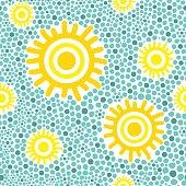 Sun pattern vector seamless