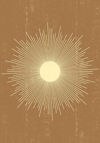 Sun print boho minimalist printable wall art