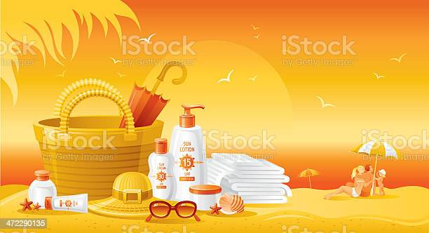 Sun protection cosmetics for family on the beach vector id472290135?b=1&k=6&m=472290135&s=612x612&h=  nc3tspwtay03t dihebk6xve6753tspgaxjfgl2ao=