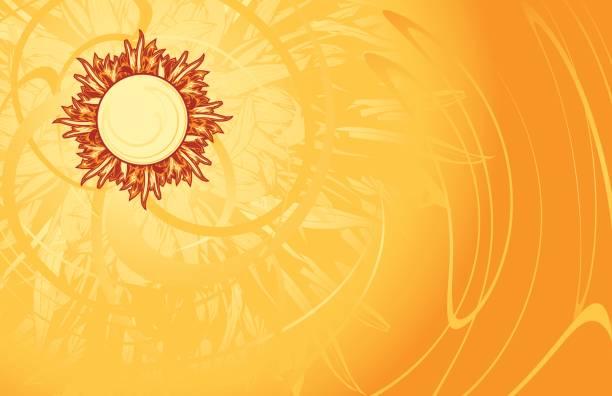 Sun radiating heat on a yellow background Bright, sunny background, full of heat.  Hi-res JPG included.  [b]Lightbox links:[/b]  [url=http://www.istockphoto.com/my_lightbox_contents.php?lightboxID=1886484][img]http://www.intergalacticdesignstudio.com/pigpen/iStock/lightbox-vectorheat-380.jpg[/img][/url] [url=http://www.istockphoto.com/file_search.php?action=file&lightboxID=173880][img]http://www.intergalacticdesignstudio.com/pigpen/iStock/vectorlightbox.jpg[/img][/url]  heat wave stock illustrations