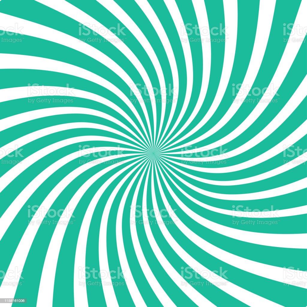 Sun rays background. Sun rays in spiral design. Sun rays green color....