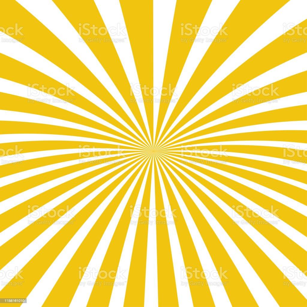 Sun rays background. Sun rays in spiral design. Sun rays yellow...