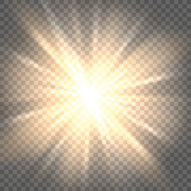 sun rays on transparent background - духовность stock illustrations