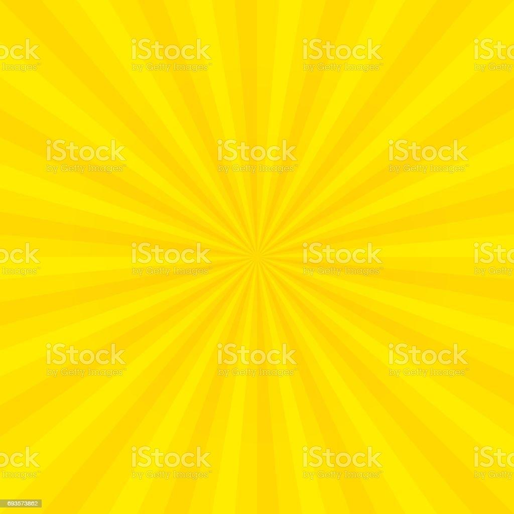 Sun Rays Sunburst Les Rayons Lumineux Sunbeam Fond Abstrait Jaune ...
