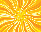 Vector background of hot twisting sun rays.
