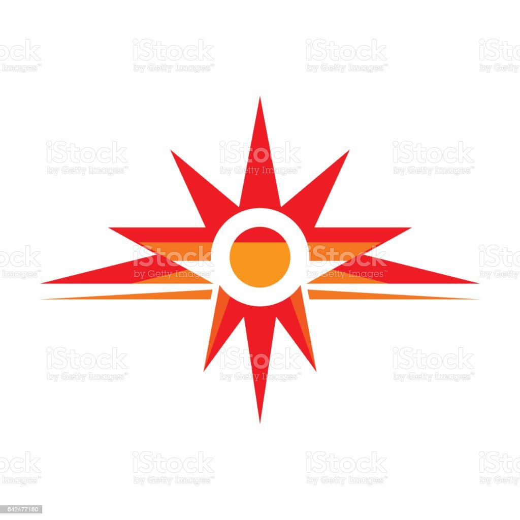 Sun Rays Vector Logo Template Concept Illustration Spark Sign Star ...