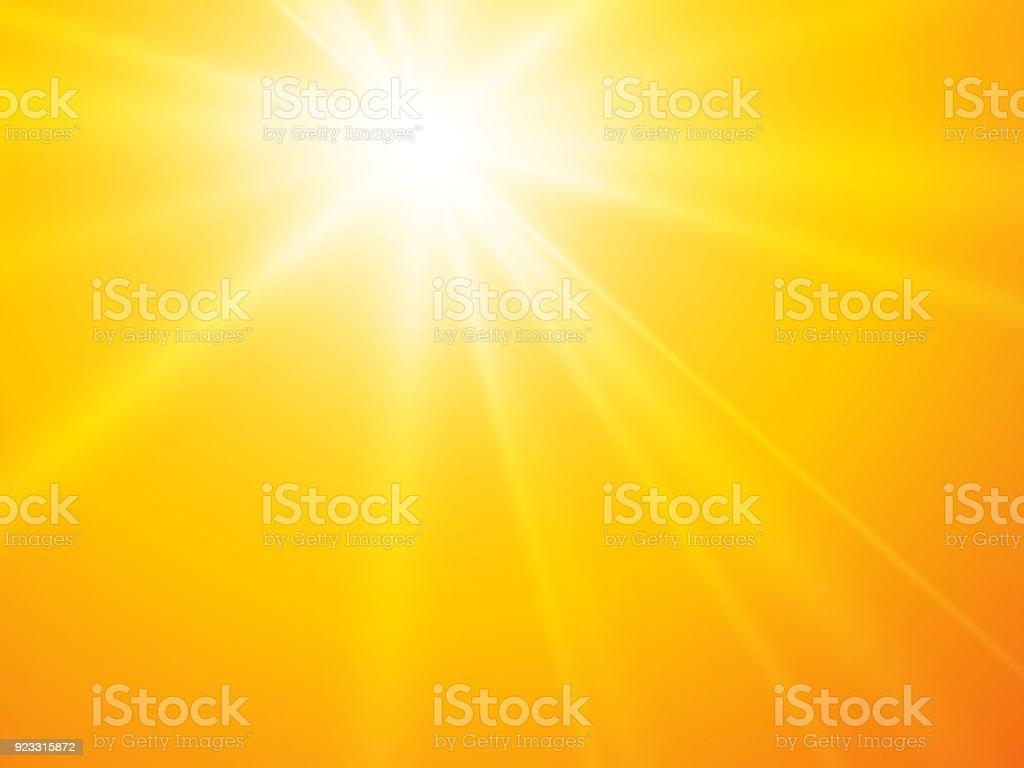 sun rays yellow vector backgroun vector art illustration