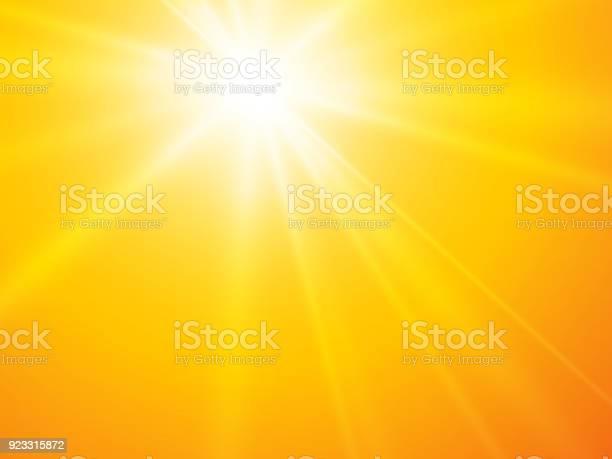 Vetores de Sol Raios Amarelo Vector Background e mais imagens de Abstrato