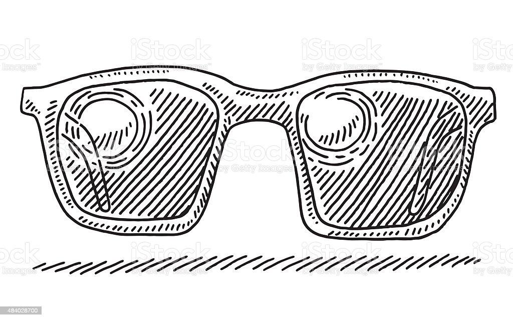 Dessin Lunettes De Soleil réflexion du soleil dété de dessin lunettes de soleil – cliparts