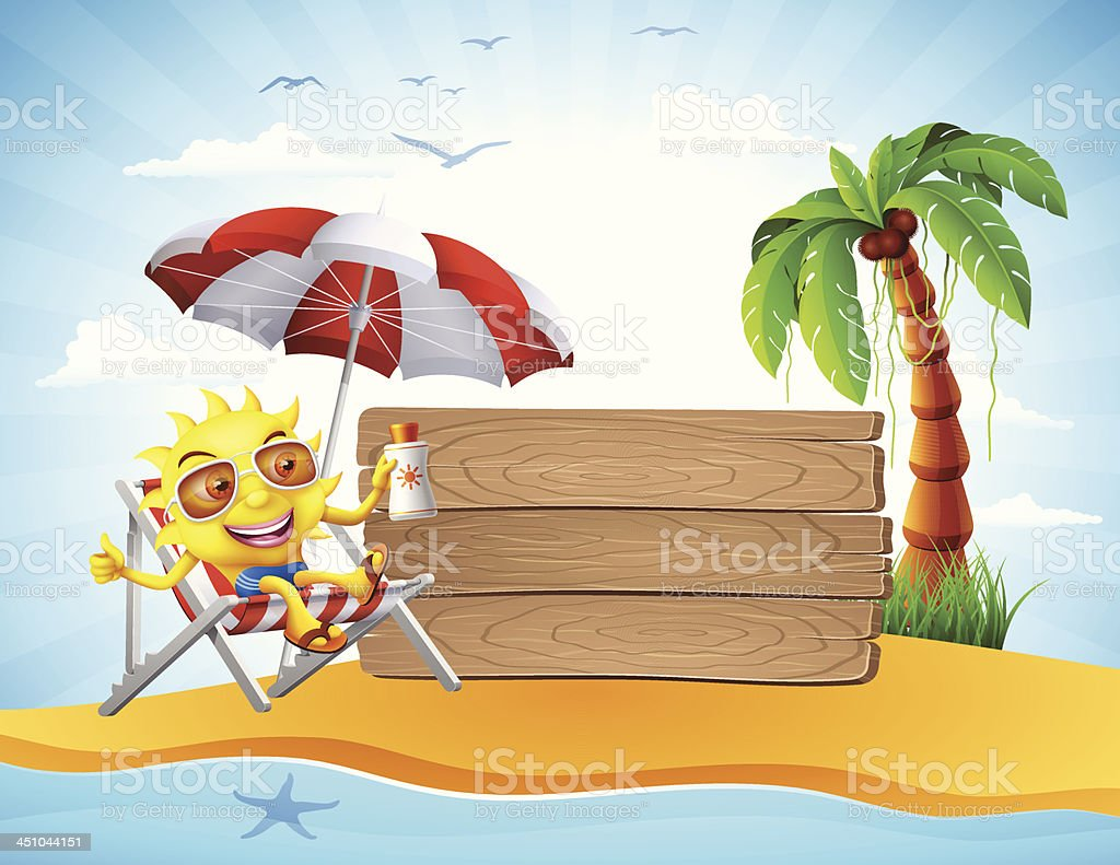 Sun relaxing on vacation. Tags. High Resolution JPG,CS5 AI and...