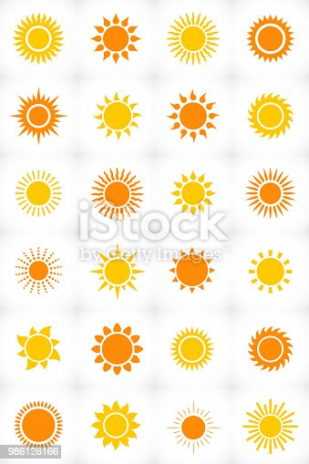 Sun set icon in vector format
