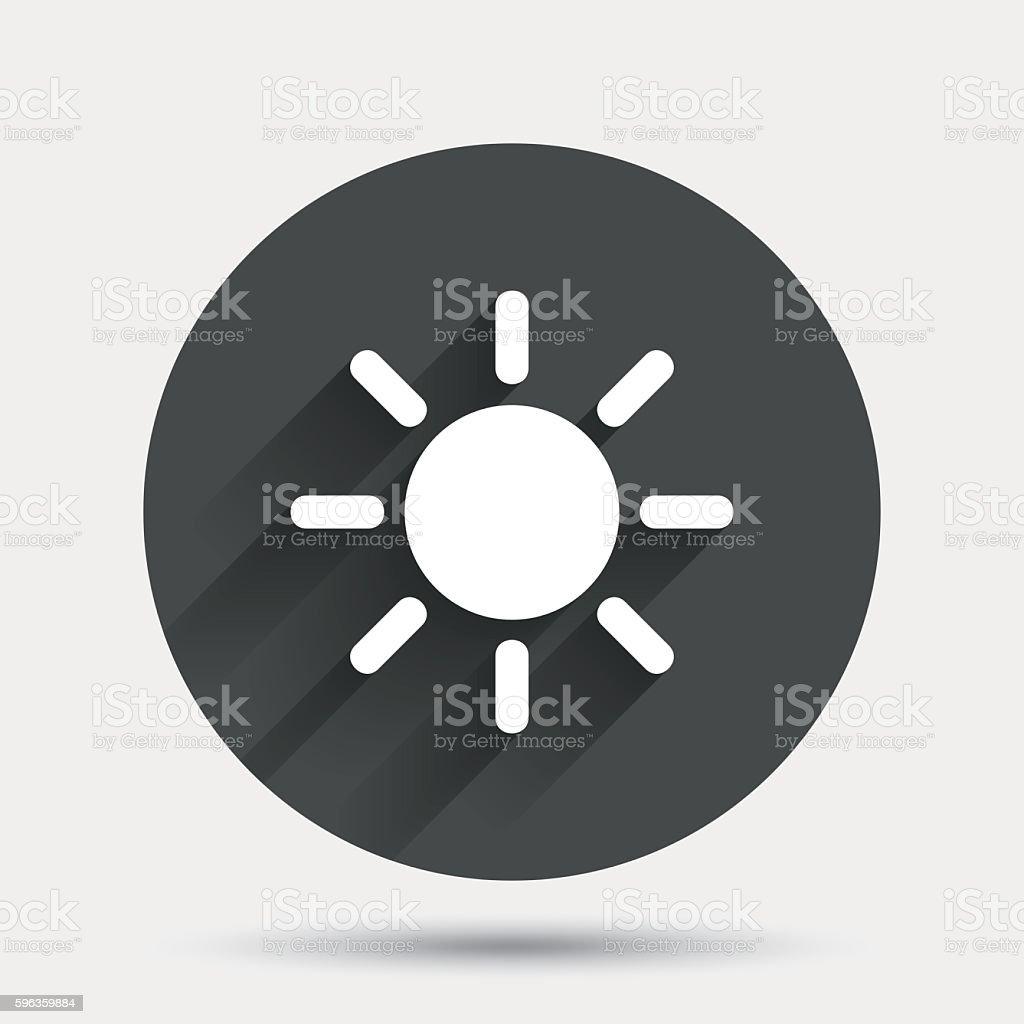 Sun sign icon. Solarium symbol. Heat button. royalty-free sun sign icon solarium symbol heat button stock vector art & more images of badge