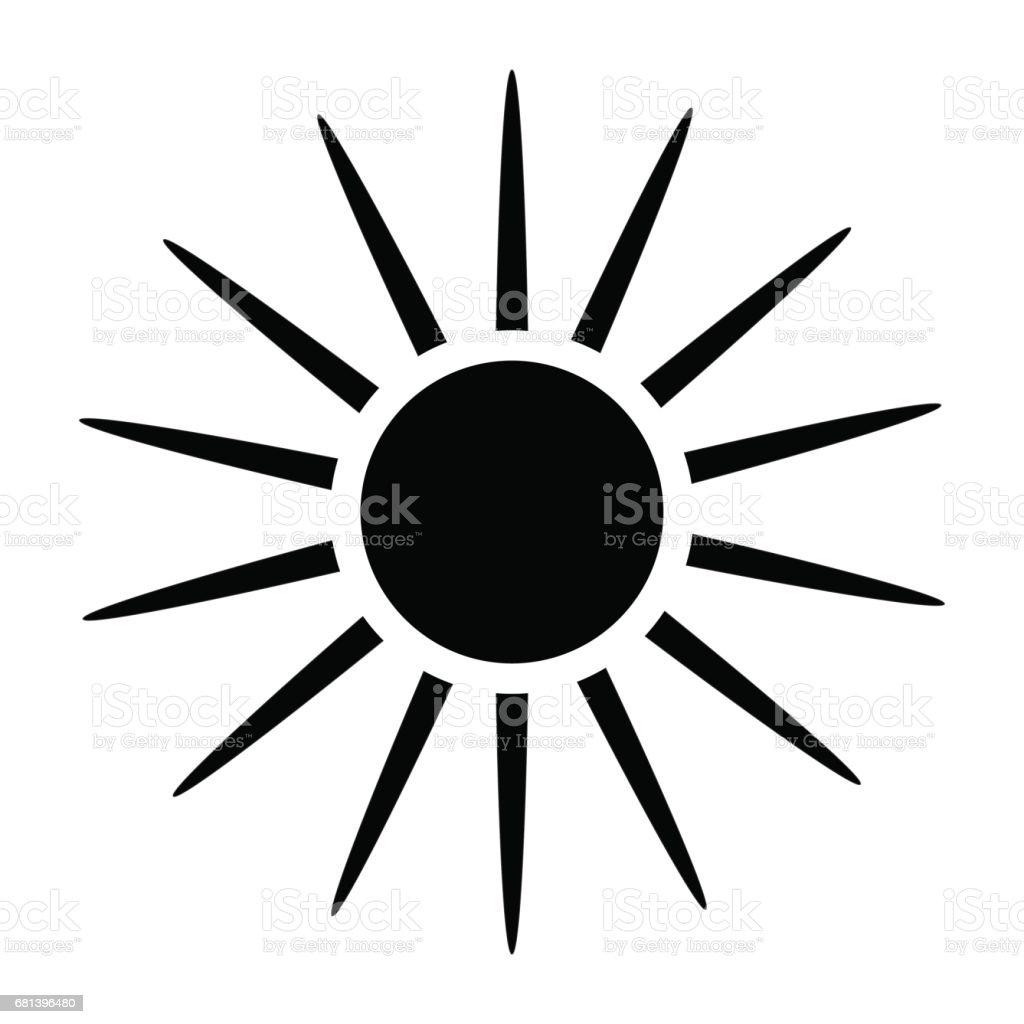 sun silhouette vector symbol icon design stock vector art more rh istockphoto com Island Silhouette Vector Sun Icon Vector