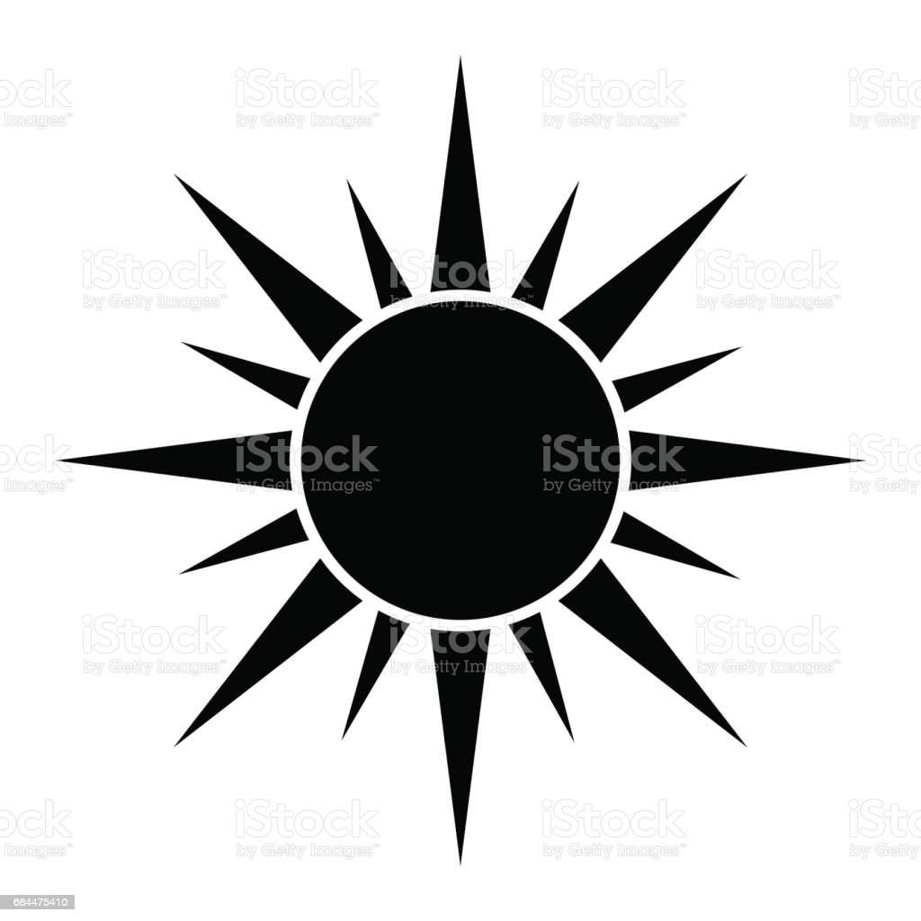 sun silhouette vector symbol icon design stock vector art more rh istockphoto com Vector Flower Silhouettes Sun Icon Vector