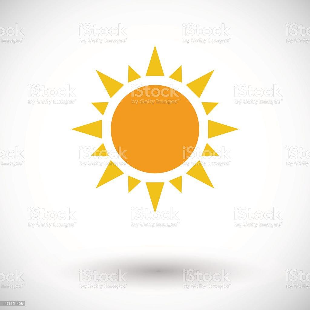 Sun single flat icon vector art illustration