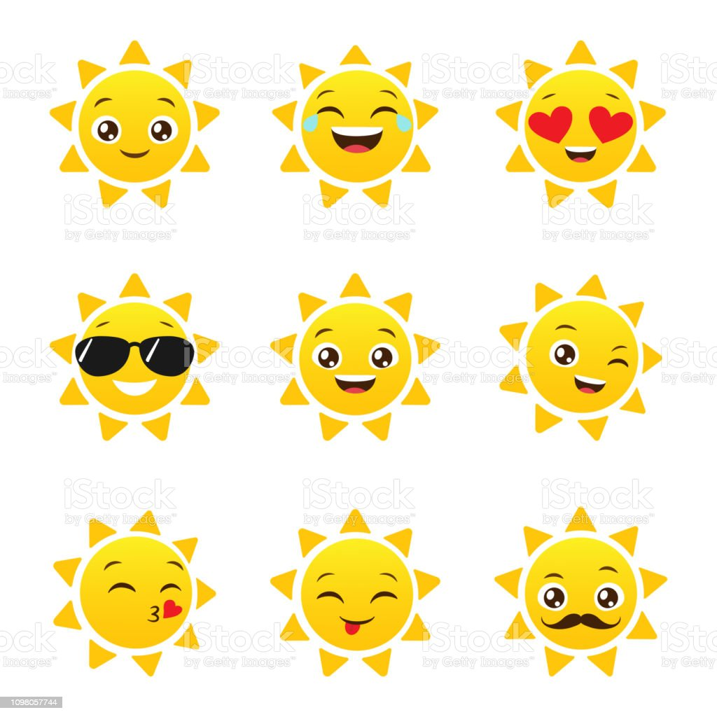 Sonne emoticon Flags and