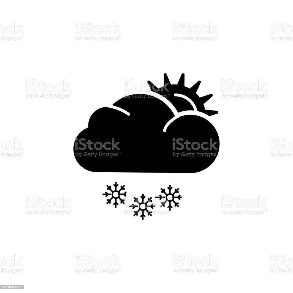 Sun snow icon vector art illustration