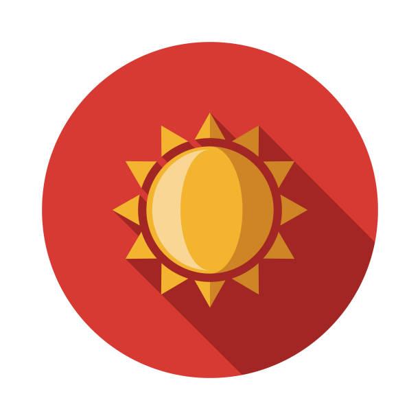bildbanksillustrationer, clip art samt tecknat material och ikoner med solen spanien platt designikon - spain solar