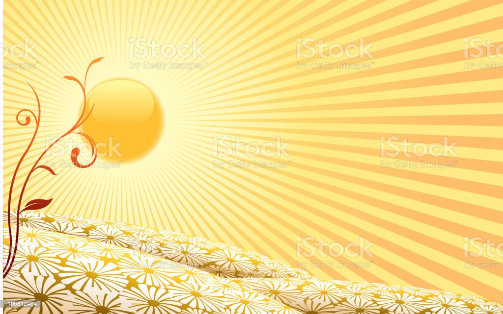 sun spring backround royalty-free stock vector art