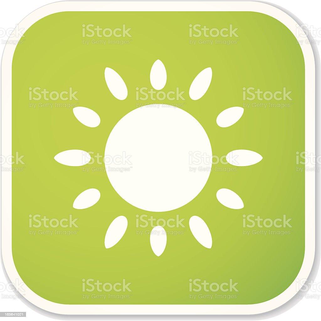 sun sq sticker royalty-free stock vector art