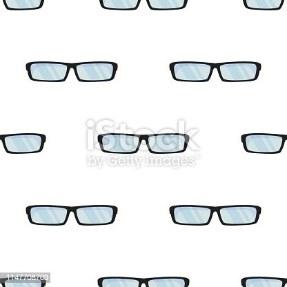 Sun summer glasses. Wrapping paper, Summer Style Collection. Eyeglasses, specs pattern. Accessories for hipsters fashion optical spectacles eyesight view.