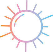 Vector illustration of a Summer party Flat Simple outline Design Icon
