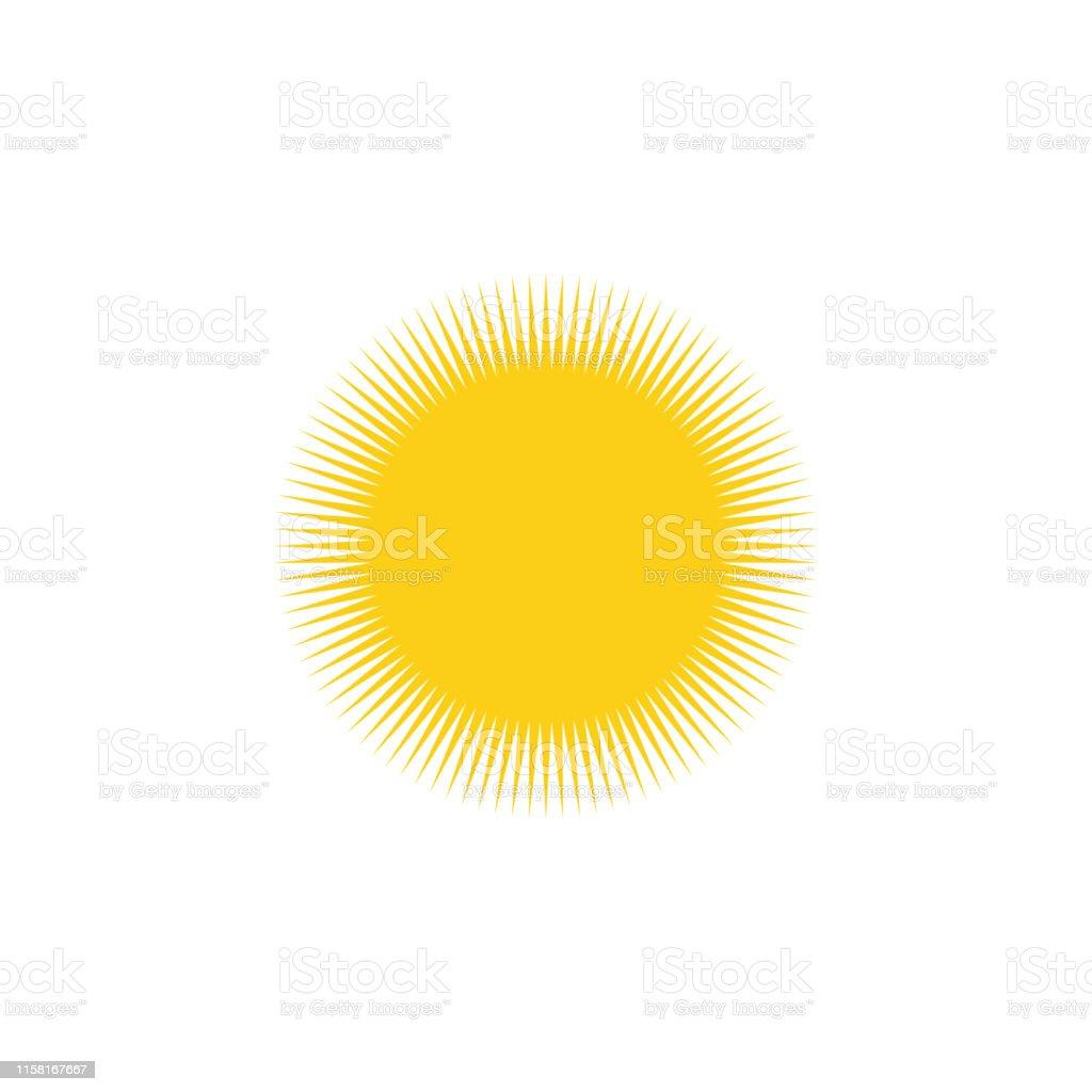 Sun. Sun yellow icon. Sun vector icon isolated on white background....