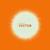 Sun. Sunburst abstract vector illustration.