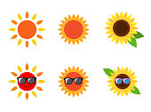 Sun sunflower icon