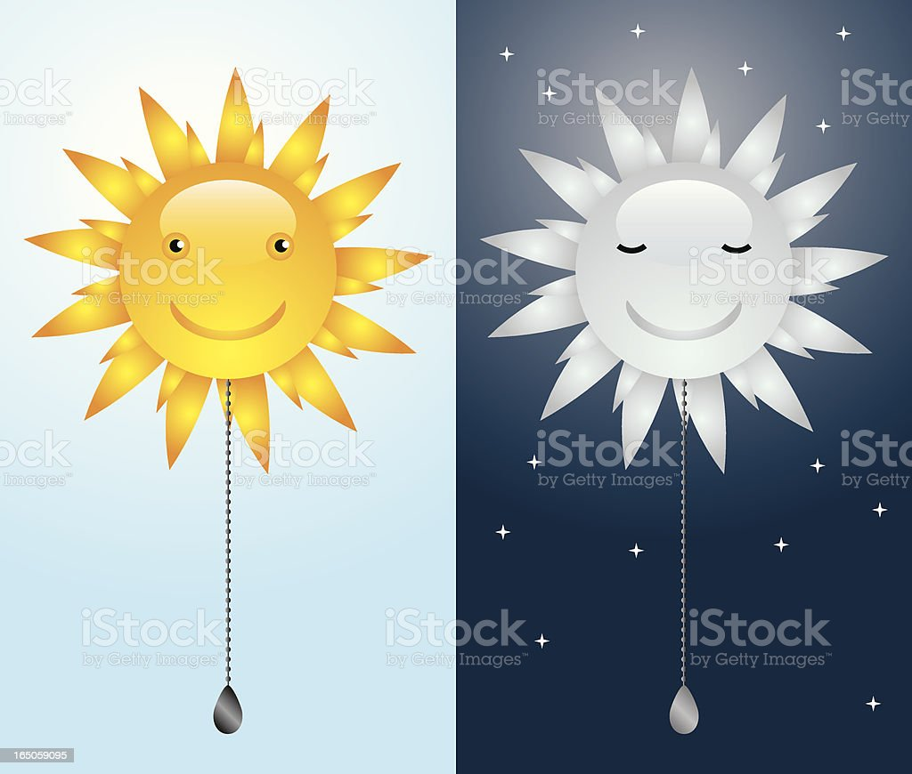 Sun Switch vector art illustration