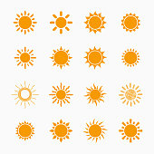 Sun symbols set