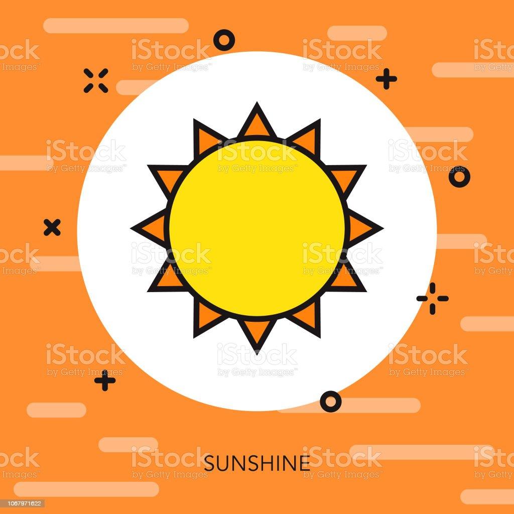 太陽は薄い線スペイン アイコン ベクターアートイラスト