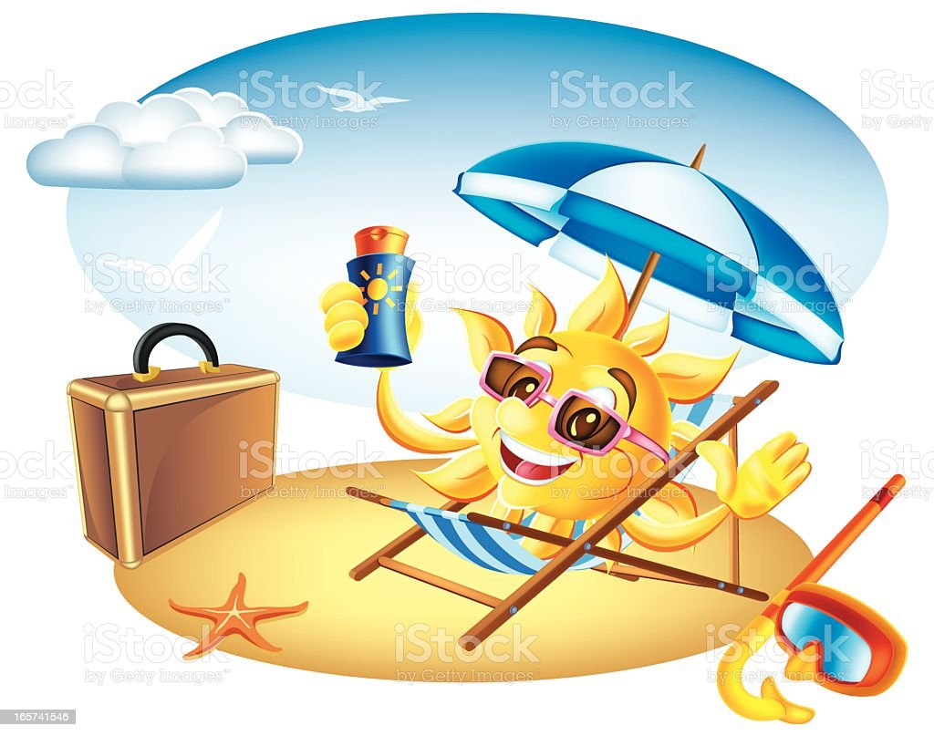 Sun Vacation royalty-free stock vector art